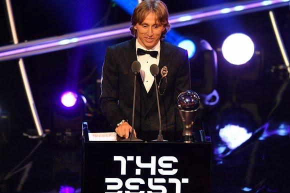 Modric levou o prêmio de melhor do mundo pela primeira vez na carreira